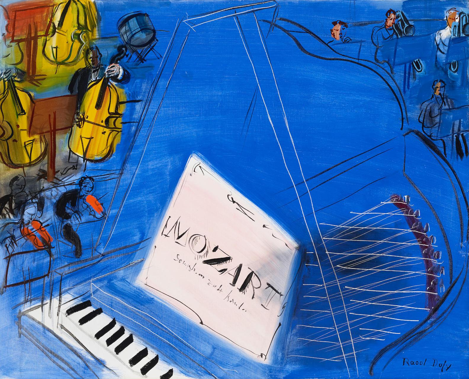 Raoul Dufy-Mozart-