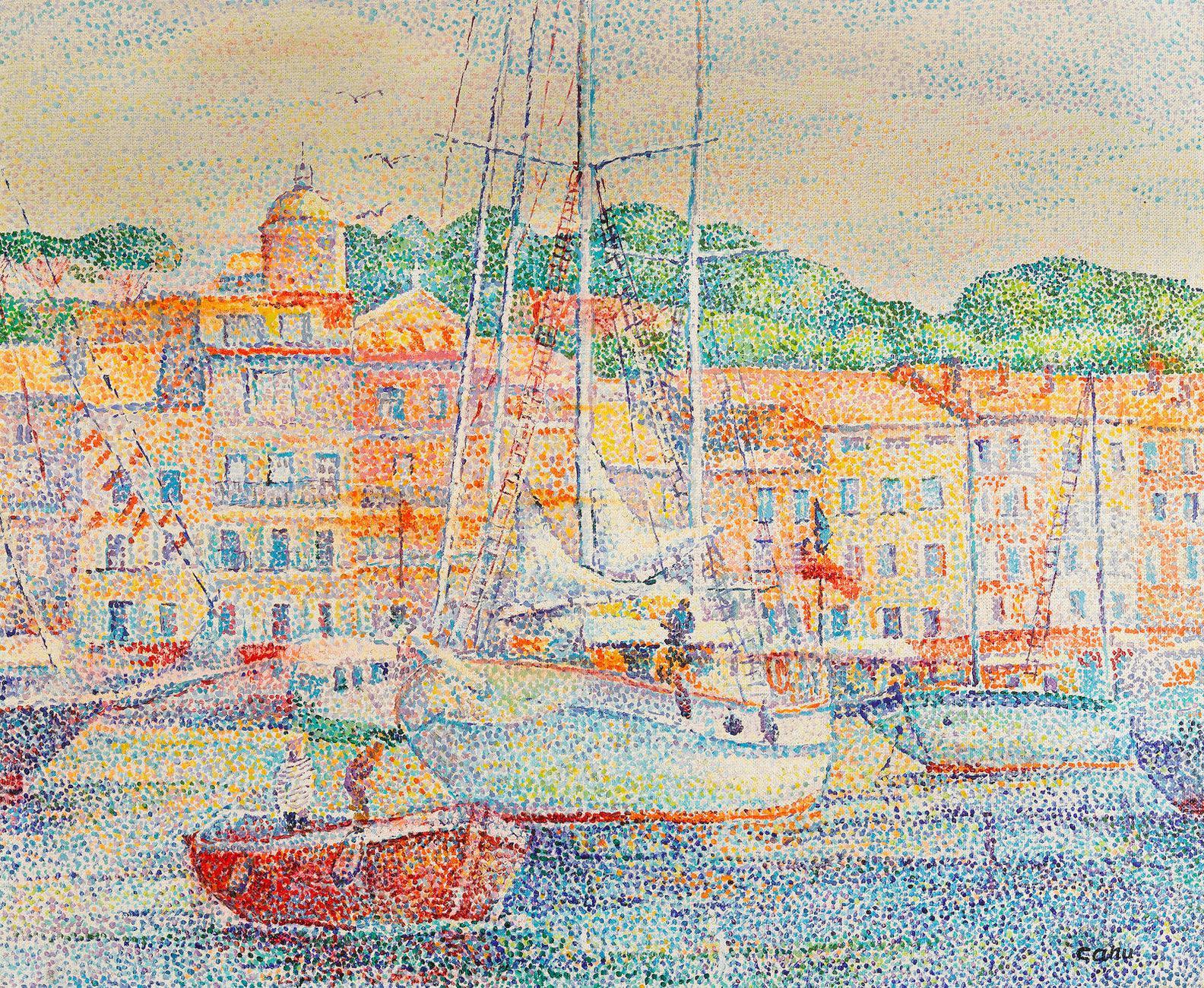 Yvonne Canu-Preparation Aux Regates A St. Tropez-1903