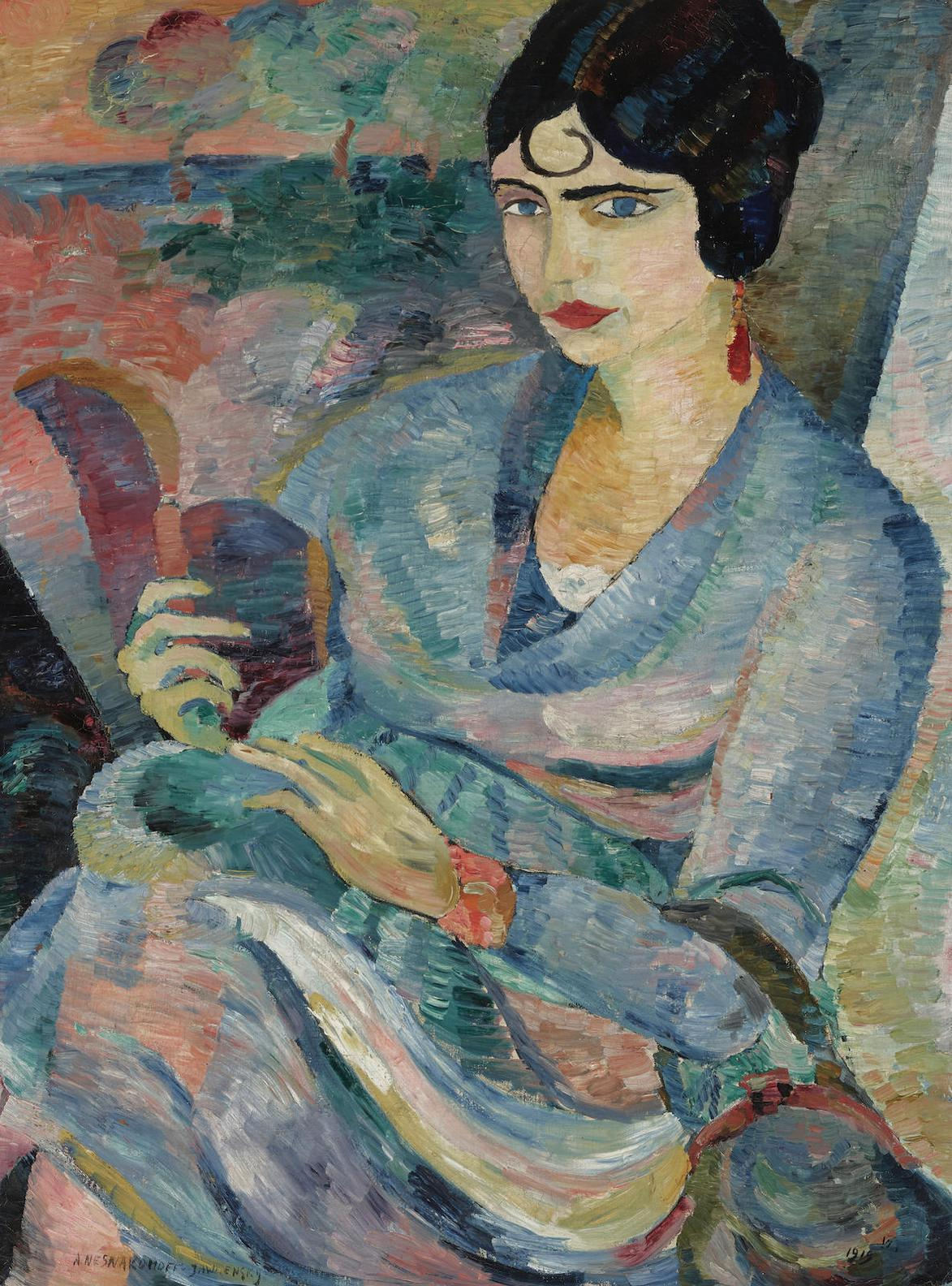 Andre Alexeyevich Jawlensky - Portrait De Clotilde-1919