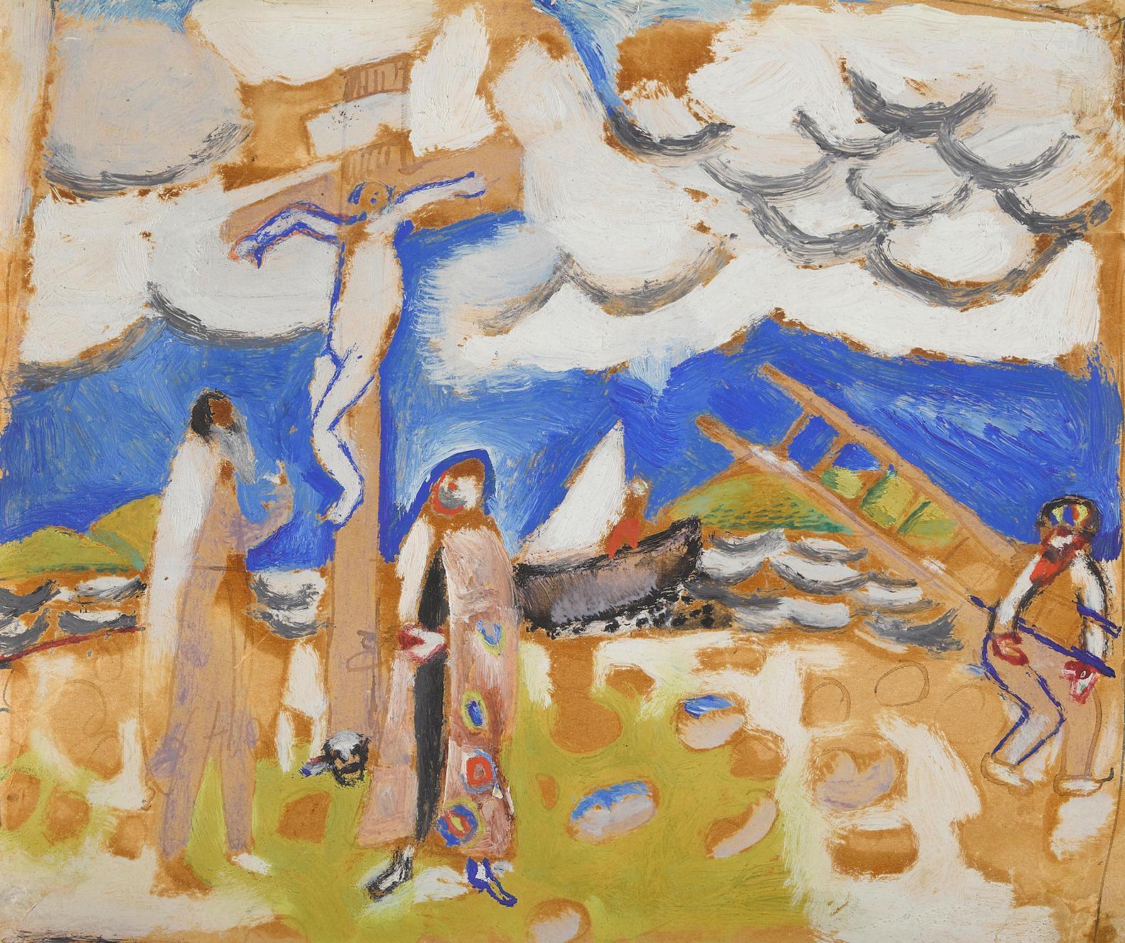 Marc Chagall-Etude Pour Golgotha-1912