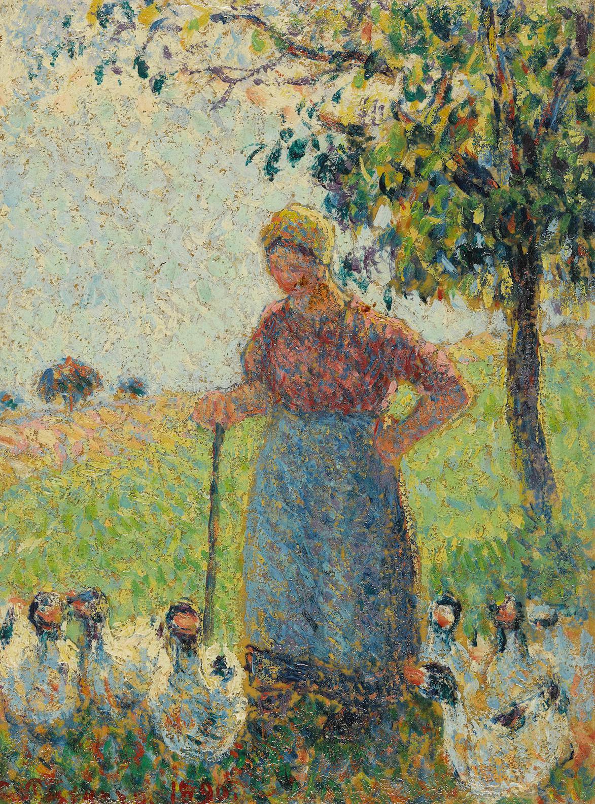 Camille Pissarro-La Gardeuse Doies-1890