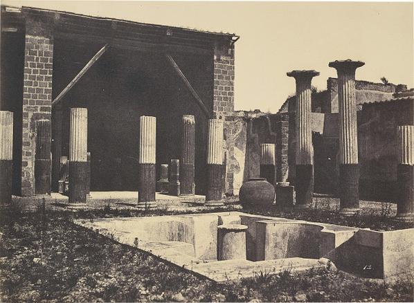 Firmin-Eugene Le Dien And Gustave Le Gray - Pompei, Maison De Meleagre-1853