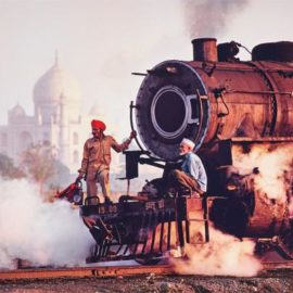 Steve McCurry-Taj And Train, India-1983