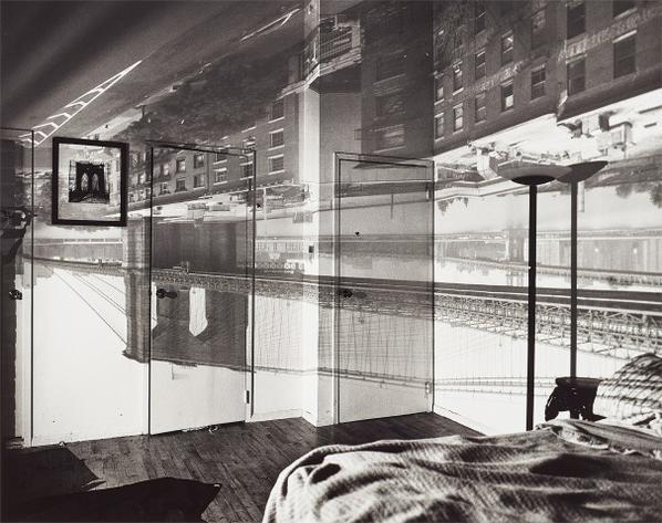 Abelardo Morell-Camera Obscura Image Of The Brooklyn Bridge In Bedroom-1999