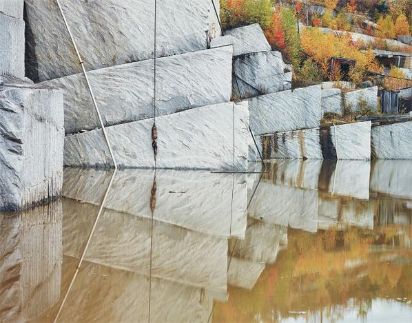 Edward Burtynsky-Rock Of Ages #2, Granite Quarry, Bebee Quebec, Canada-1991