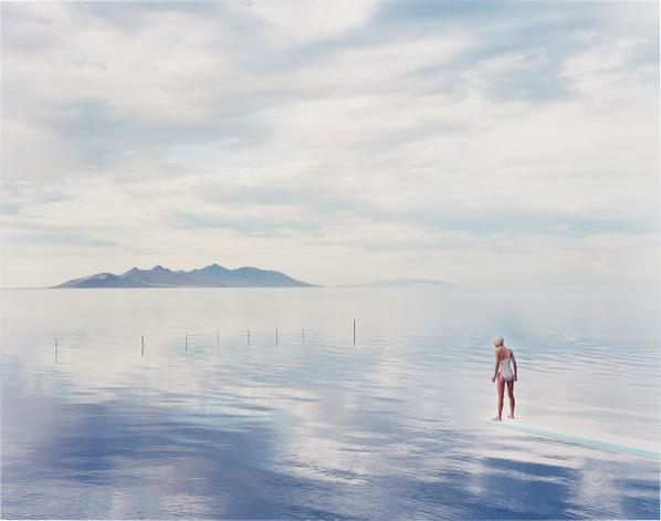 Nadav Kander-Diver, Salt Lake City, Utah-1997