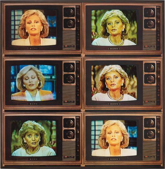 Robert Heinecken-T.V. Network Newswomen Corresponding (Barbara Walters And Faith Daniels)-1986
