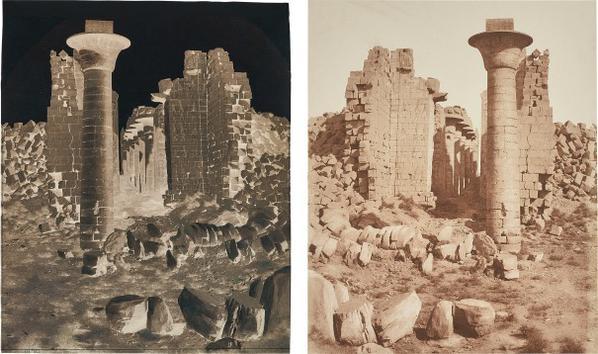 Felix Teynard-Karnak (Thebes), Cour Du Palais - Vue Prise Du Point I-1852