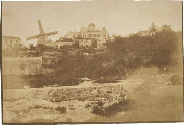 Hippolyte Bayard-La Butte Montmartre (Moulin De La Petite Tour And Propriete Michelini)-1850