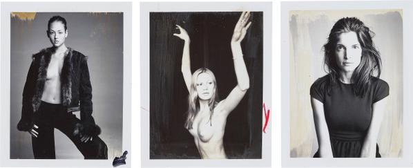 Patrick Demarchelier-Three Polaroids-