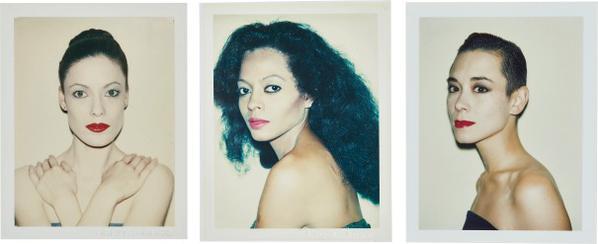Andy Warhol-Karen Kaine, Diana Ross, Tina Chow-1985