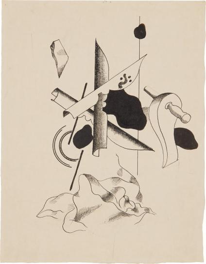 Fernand Leger-Composition Aux Plumes-1930