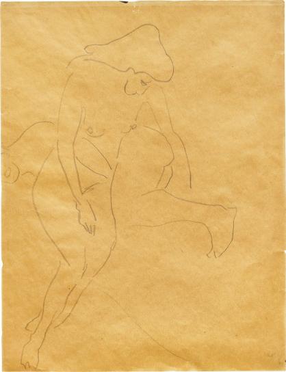 Ernst Ludwig Kirchner-Zwei Liegende Akte-1907