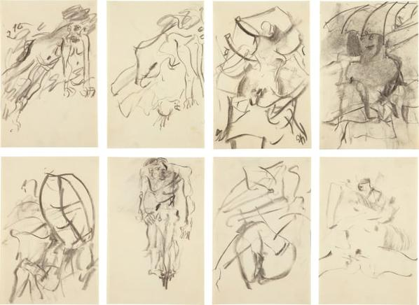 Willem de Kooning-Eight Works: (i-viii) Untitled-1980