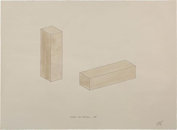 Robert Morris-Column, Two Positions, 1961-1972
