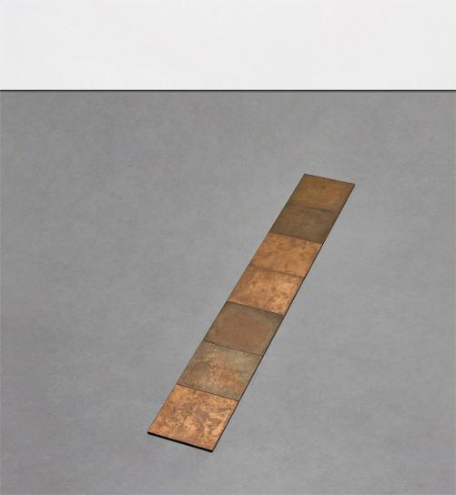 Carl Andre-7 Copper Weather Row-1980