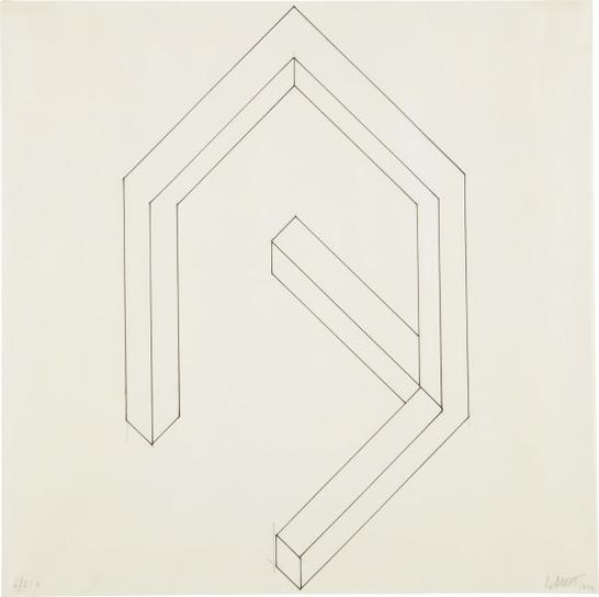 Sol LeWitt-Incomplete Open Cube 6/21-1974
