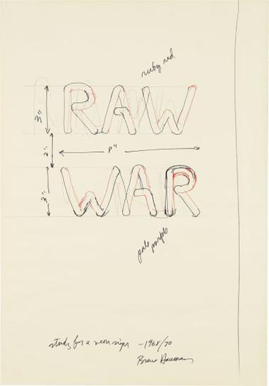 Bruce Nauman-Raw/War-1970