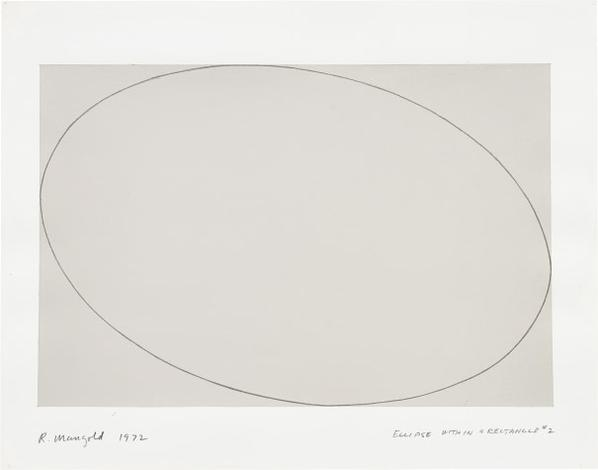 Robert Mangold-Ellipse Within A Rectangle #2-1972
