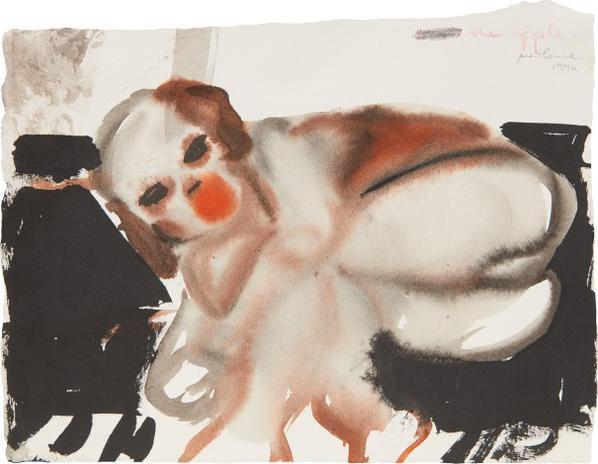 Marlene Dumas-The Apple-1994
