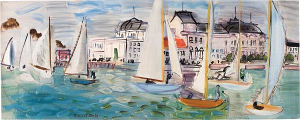 Raoul Dufy-Regates A Deauville-1934