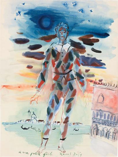 Raoul Dufy-Arlequin A Venise-1952