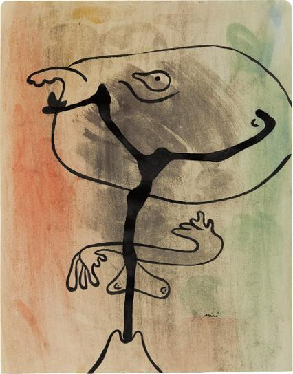 Joan Miro-Figure En Etat De Metamorphose (Figure In A State Of Metamorphosis)-1936