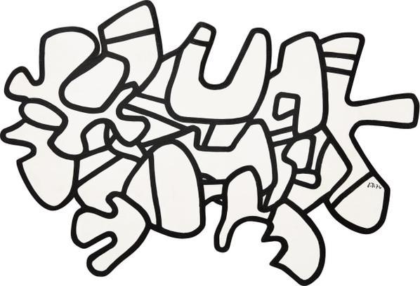 Jean Dubuffet-Figure VIII-1974