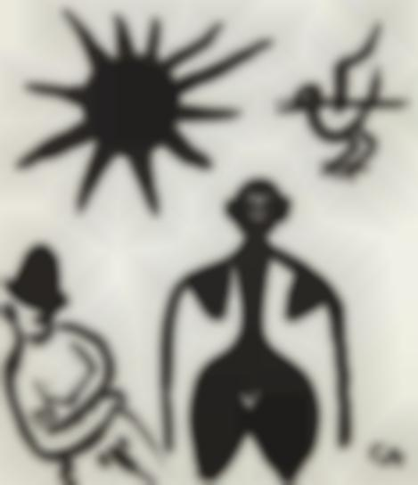 Alexander Calder-Untitled (Man, Woman, Bird And Sun)-1968