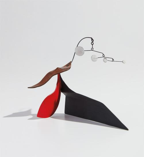Alexander Calder-Four Dots With Brass Tail-1953