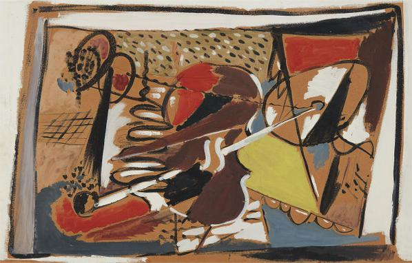 Arshile Gorky-Musical Abstraction-1928