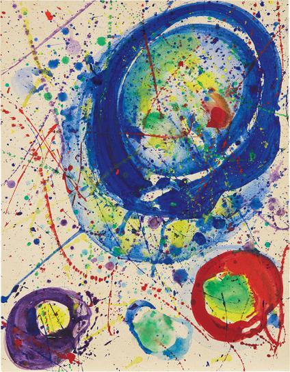 Sam Francis-Untitled (Blue Balls)-1962