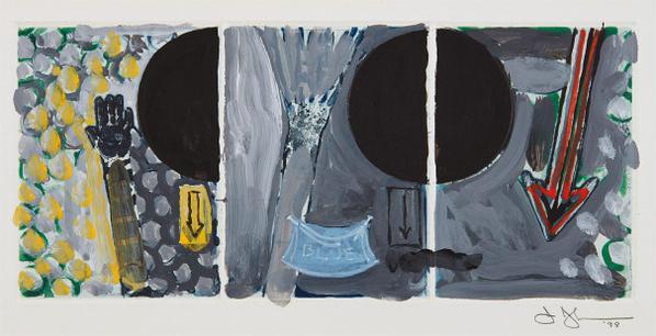 Jasper Johns-Untitled (Red, Yellow, Blue)-1998