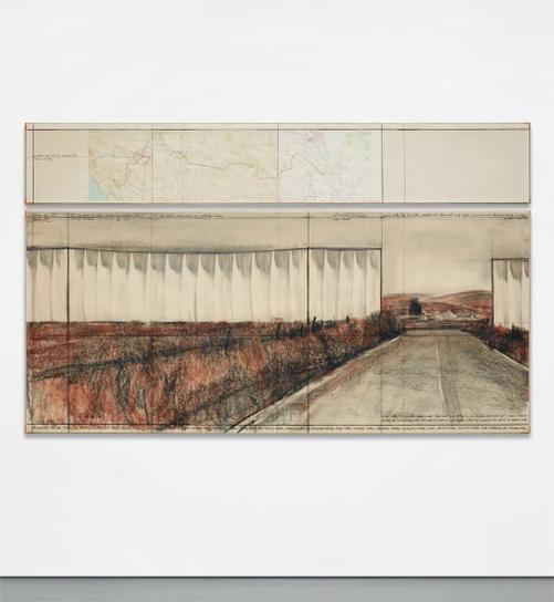 Christo and Jeanne-Claude-Running Fence (Project For Sonoma County And Marin County, State Of California)-1976