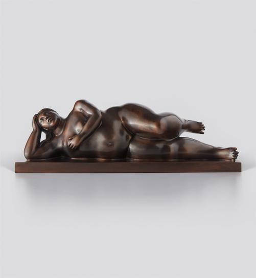Fernando Botero-Reclining Woman-1996