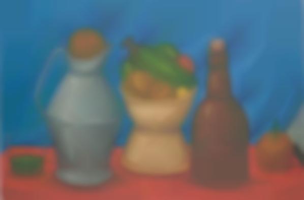 Fernando Botero-Still Life With Bottle-1982