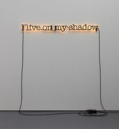 Glenn Ligon-Untitled (I Live On My Shadow)-2009