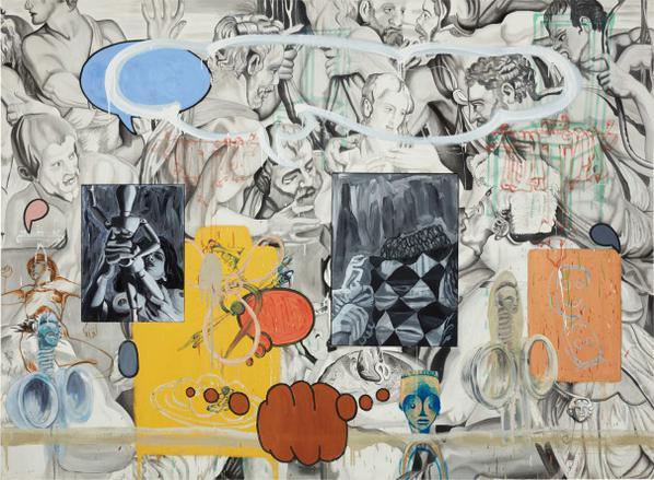 David Salle-Nadars Grey-1990