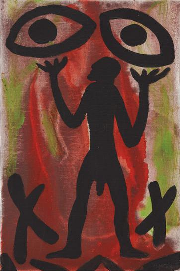 A.R. Penck-Figure And Two Eyes-1980