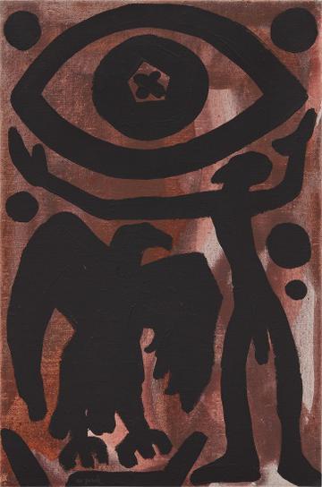 A.R. Penck-Eagle And Figure-1980
