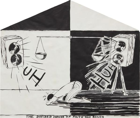 Mike Kelley-The Divided House Of Faith And Reason-1983