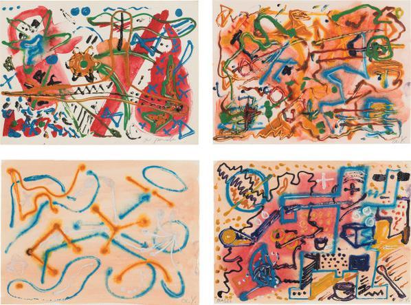 A.R. Penck-Four Works: (I-IV)-1980