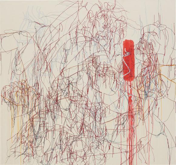 Ghada Amer-The Dance On Red Rhythm-2004