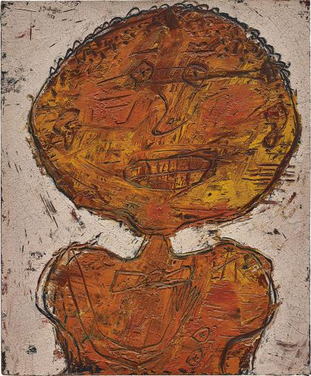 Jean Dubuffet-Mademoiselle Mine Orange-1950