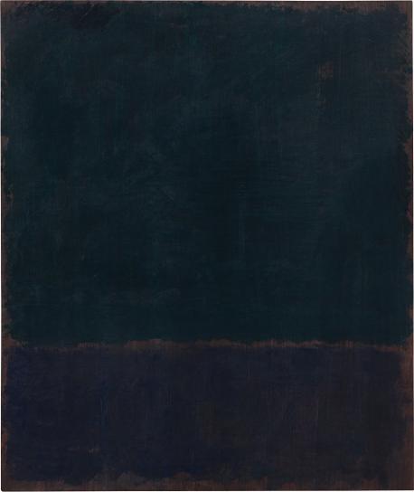 Mark Rothko-Black Blue Painting-1968