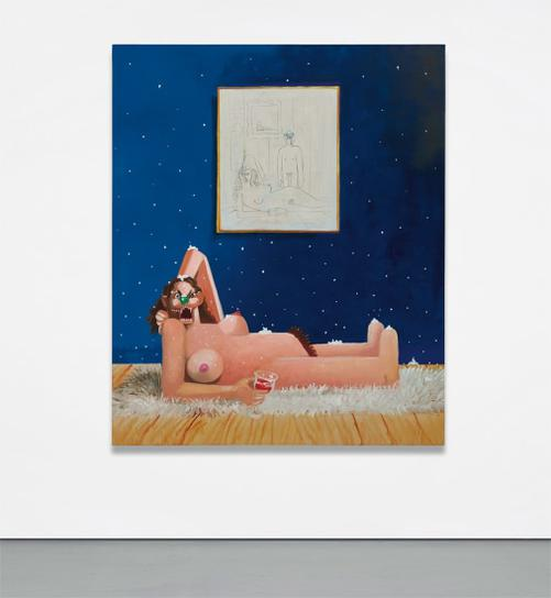 George Condo-Dreaming Nude-2006