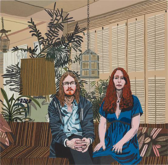 Jonas Wood-Michael And Leslie-2013