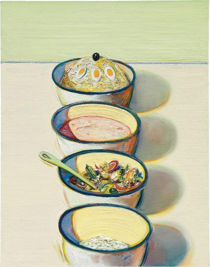 Wayne Thiebaud-Food Bowls-2005