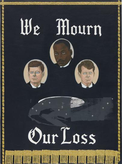 Kerry James Marshall-We Mourn Our Loss #1-1997