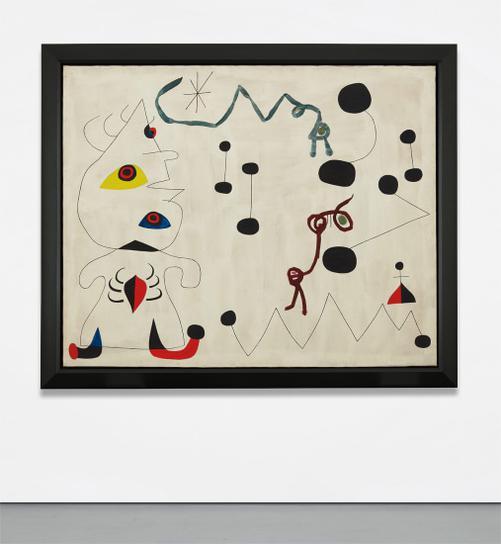 Joan Miro-Femme Dans La Nuit-1945